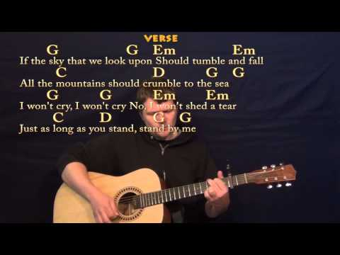 Stand By Me (Ben E King) Easy Guitar Strum Cover Lesson with LyricsChords