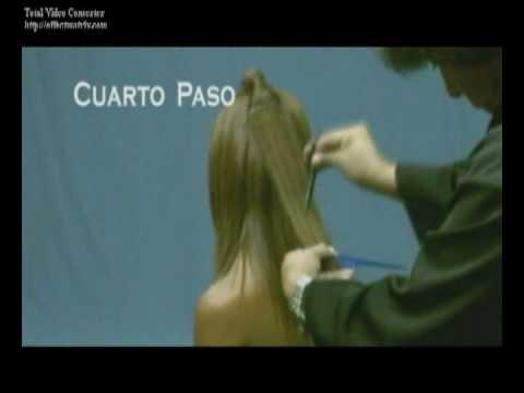 03 CORTE DESFILADO EN CABELLO ALISADO PASO A PASO EL MUNDO EDUCATIVO AMARANTO OLIVOS ESTILISTAS PARTE 5