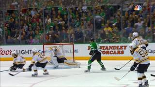 Rask leaps for larcenous save on Sharp