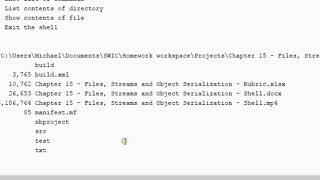 Chapter 15   Files, Streams and Object Serialization   Shell