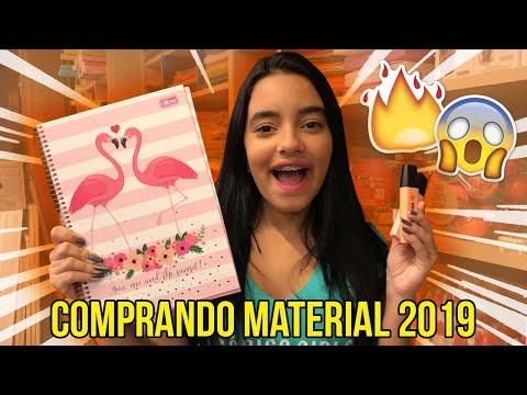 COMPRANDO MATERIAL ESCOLAR 2019! Bela Almada