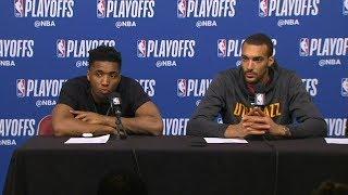 Donovan Mitchell & Rudy Gobert Postgame Interview - Game 5 | Jazz vs Rockets | 2019 NBA Playoffs
