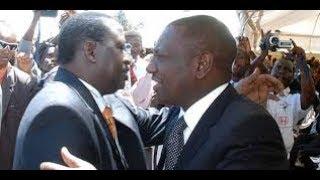 DP William Ruto welcomes Raila Odinga to address mourners at the burial of CS Nkaissery