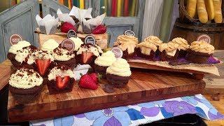 Muffins de chocolate con corazón sorpresa