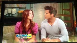 Cassadee Pope and Dez Duron on Access Hollywood