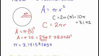 Basic Geometry - Area and Circumference of Circles