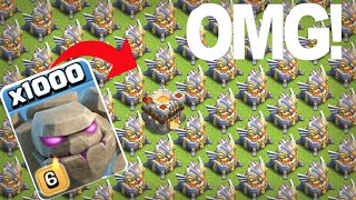 1000 Max Golems Vs Max Eagle Artillery ON | COC PRIVATE SERVER
