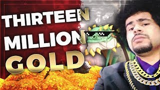 Viewer donates 13,000,000 Gold to streamer