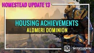 ESO Housing Achievements - Aldmeri Dominion