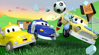 The FOOTBALL GAME with the Baby Cars in Car City ! - Cartoon for kids