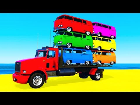 Xxx Mp4 COLOR BUS On TRUCK And Cars Cartoon For Kids Fun Colors For Children Nursery Rhymes 3gp Sex