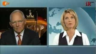 Schäuble bekommt Feuer von Marietta Slomka
