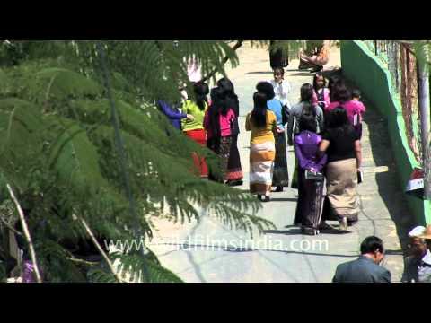 Xxx Mp4 Mizo Women In Traditional Sarongs At Sunday Church 3gp Sex