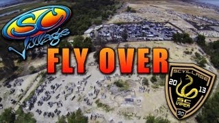 SC Village Paintball and Airsoft Park aerial tour in Chino // 2013