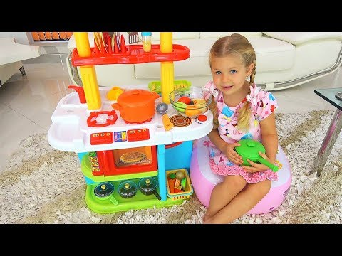 Xxx Mp4 Roma And Diana Pretend Play Cooking Food Toys With Kitchen Play Set 3gp Sex