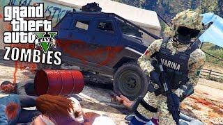 GTA 5 APOCALIPSIS ZOMBIE VS MARINA ARMADA DE MÉXICO-EP#1 | GTA V MODS PC|EdgarFtw