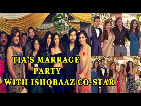 Tia Reception Party with ISHQBAAZ co-star