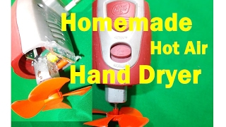 how to make homemade hand dryer   with mortrein   life hacks   2017