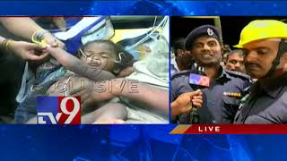 NDRF team rescues boy stuck in Borewell - TV9