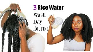 3 Rice water Fast Hair Growth Wash Day Routine   Natural Hair   Yao Women Secret