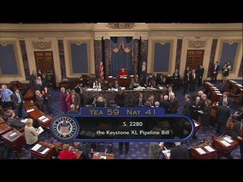 Wailing, singing disrupts Senate following Keystone vote