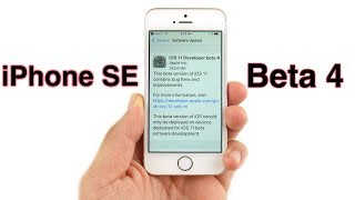 iPhone SE iOS 11 Beta 4 Review!