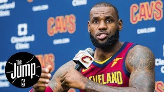 LeBron James calls Kyrie Irving 'kid' during press conference | The Jump | ESPN