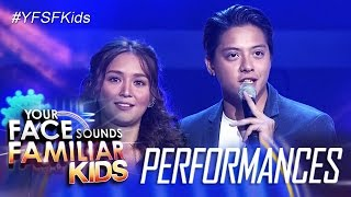 """Your Face Sounds Familiar Kids Finale: Kathryn and Daniel sing """"Can"""