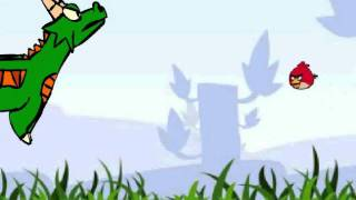 angry birds parody - natok the dragon vs red bird (with background) (OLD DON'T WATCH!!)