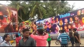 Vivegam Massive Flex Banner and Celebration