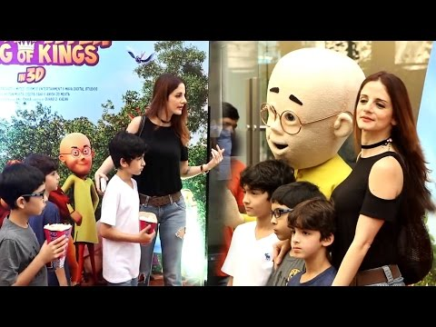 Xxx Mp4 Sexy Sussanne Khan With Kids At Special Screening Of Film Motu Patlu King Of King 3D 3gp Sex