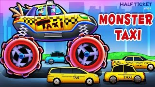 Taxi Monster Truck | Monster Taxi Truck Videos For Kids | Taxi for Kids