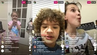 Gaten Matarazzo | Instagram Live Stream | 6 April 2017 w/ Millie Bobby Brown & Ava