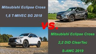 Mitsubishi Eclipse Cross 1,5T vs. 2,2D - 0-180km/h Tacho POV