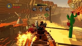 The LEGO Movie Videogame - Flatbush Rooftops 100% Guide (Gold Instruction Pages/Pants)