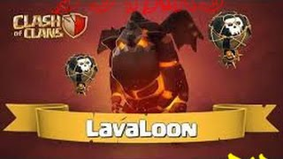 Clash of Clans | LavaLoon / LaLoon ( Lava Hound Balloon ) clan war attack TH9 wrecked 8 replays