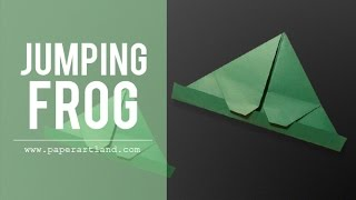 Origami for Kids: How to make a paper frog that can JUMP | Jumping Frog