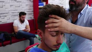 ASMR Turkish Barber Face,Head and Back Massage 31