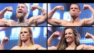 UFC 196: McGregor vs. Diaz Full Weigh-in Video
