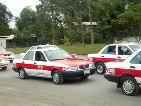 Peregrinacion de Taxistas Alamo Veracruz.