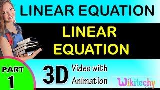 LINEAR EQUATION  maths class 8,9,10,11,12 trick shortcuts online videos cbse puzzles