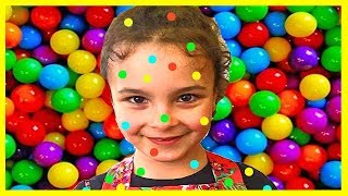 Learn Colors Johny Johny Yes Papa with Candy and Sweets, Learn Colours with Baby and Сandy