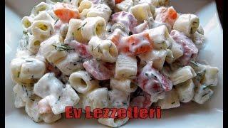 Makarna Salatası Nasıl Yapılır- Nefis Salata Tarifi- Ev Lezzetleri