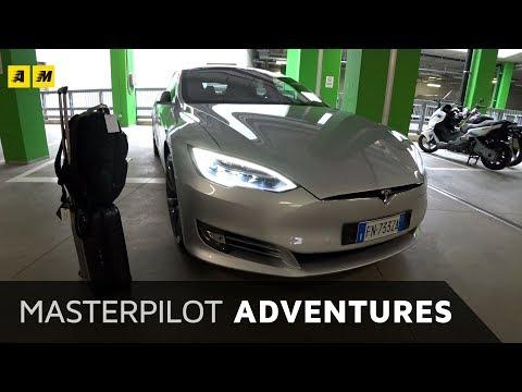 Tesla Model S da Milano a Roma per la Formula E 2018 Masterpilot cameo Galeazzi