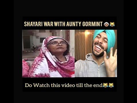 Xxx Mp4 Shayari War With Aunty Gormint Funny Aunty Funny Desi Vine 3gp Sex