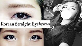 Korean Style Straight Eyebrows Tutorial