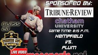 MSA Sports Hockey Spotlight - Playoffs:  Hempfield vs. Plum  3/14/17