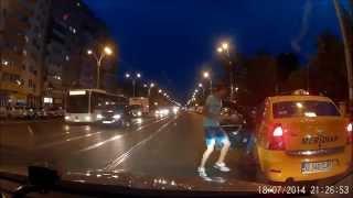 Road rage victim fights back