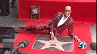 RuPaul's Walk of Fame star unveiled at ceremony in Hollywood I ABC7