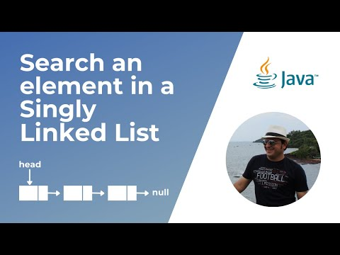 How to search an element in a Linked List in Java ?